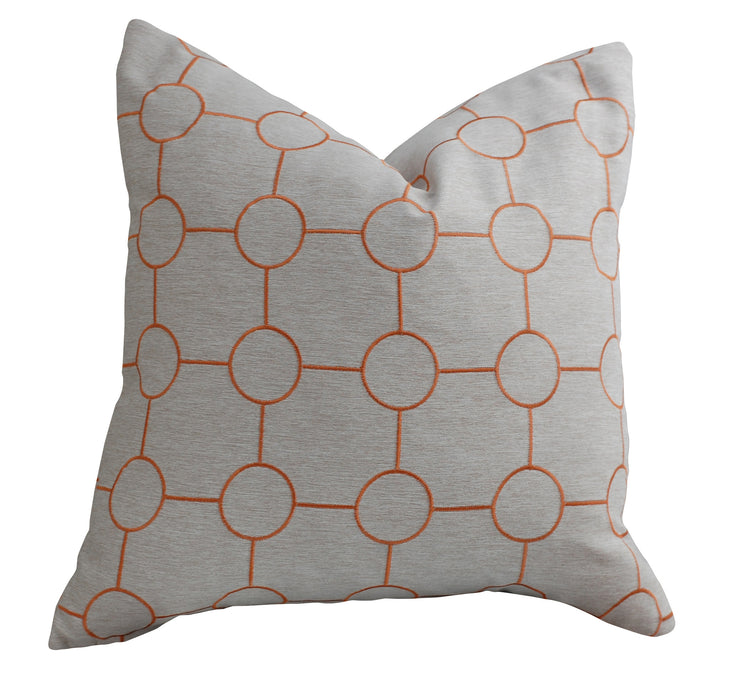 Trovati Decorative Pillow - Chevron Sunset Silver  - 2