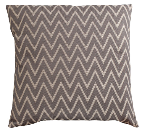 Trovati Charcoal Chevron Decorative Pillow