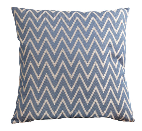 Trovati Navy Chevron Decorative Pillow