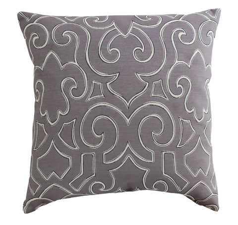 Trovati Fleur Decorative Pillow- Grey
