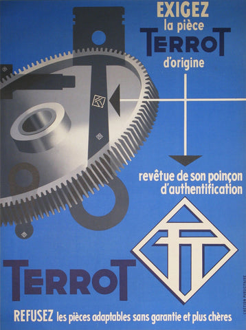 Terrot Authentic Vintage Poster