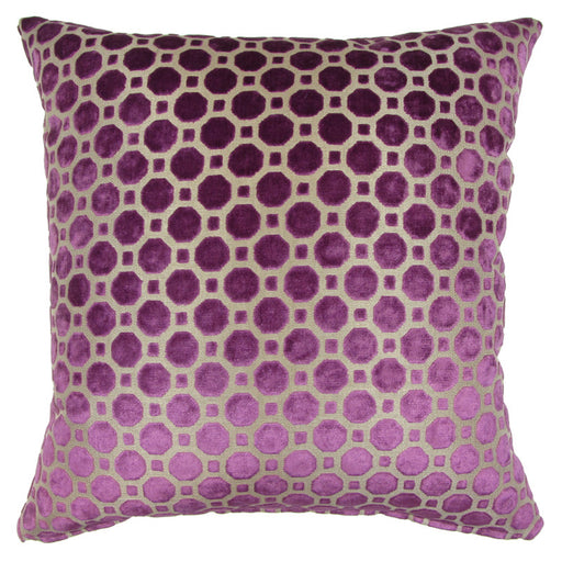 Trovati Decorative Pillow - Velvet Geo Purple Amethyst