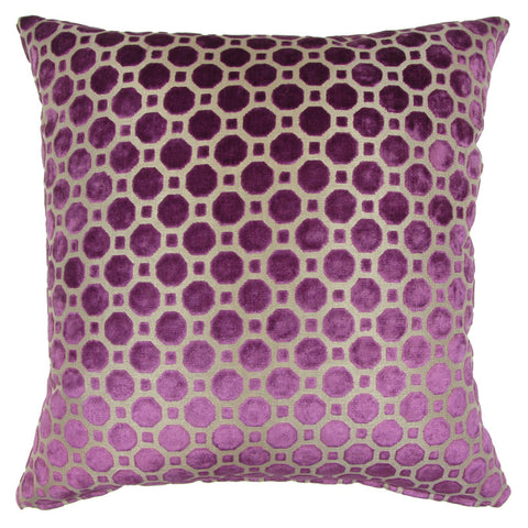 Trovati Velvet Geo Decorative Pillow- Amethyst