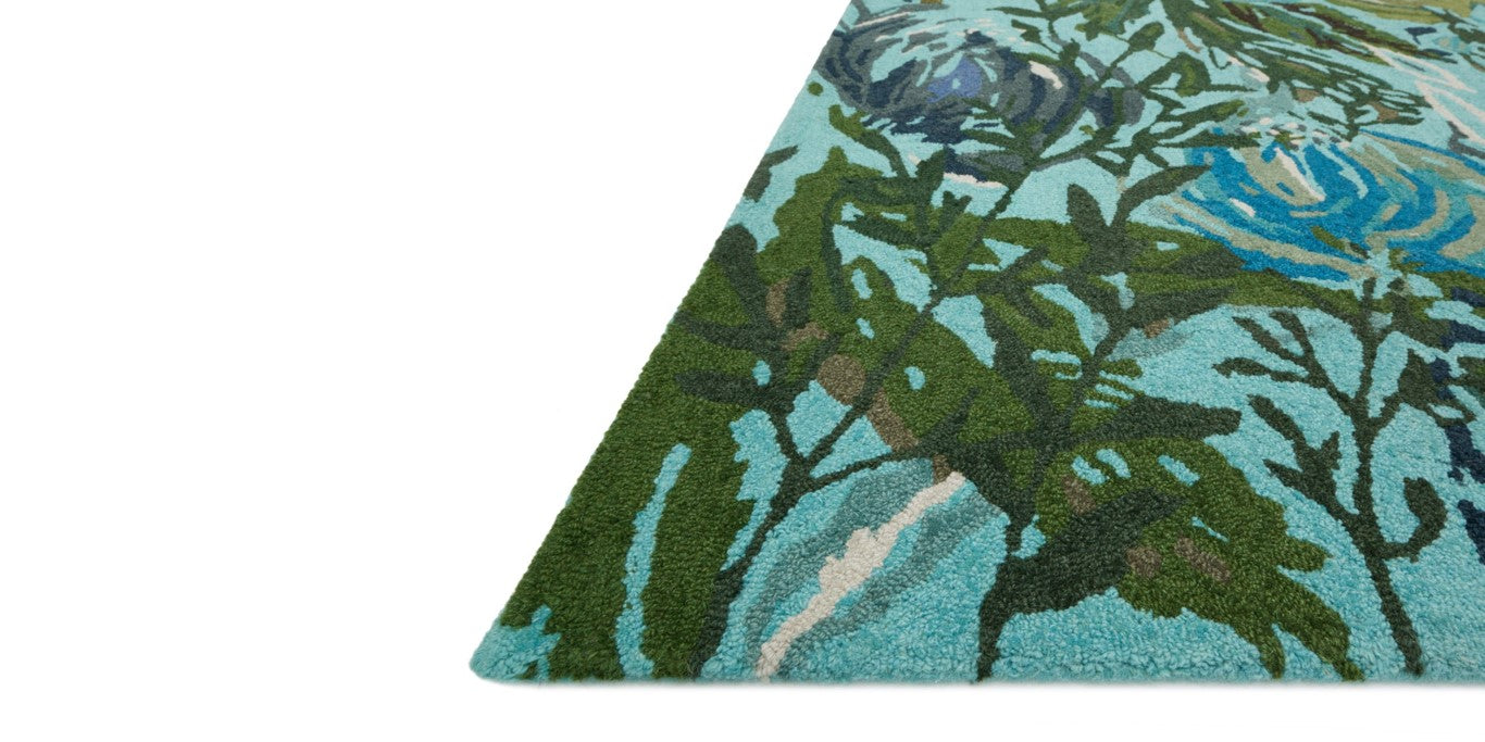 Loloi Wild Bloom Rug - Aqua / Green