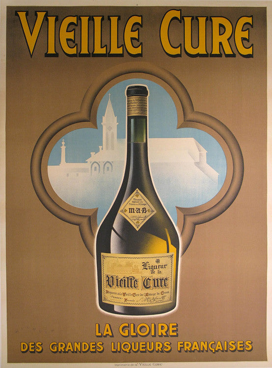 Vieille Cure Brown Authentic Vintage Poster by Wilquin