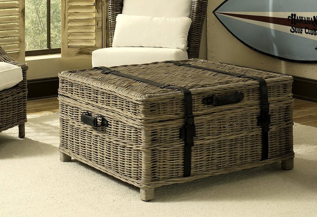 Padma's Plantation Woven Coffee Table Trunk - Trovati