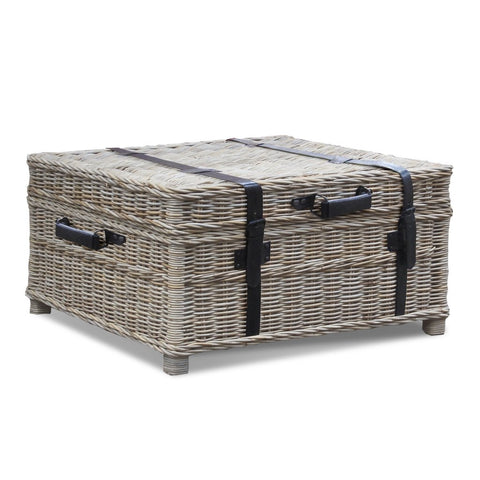 Padma's Plantation Woven Coffee Table Trunk