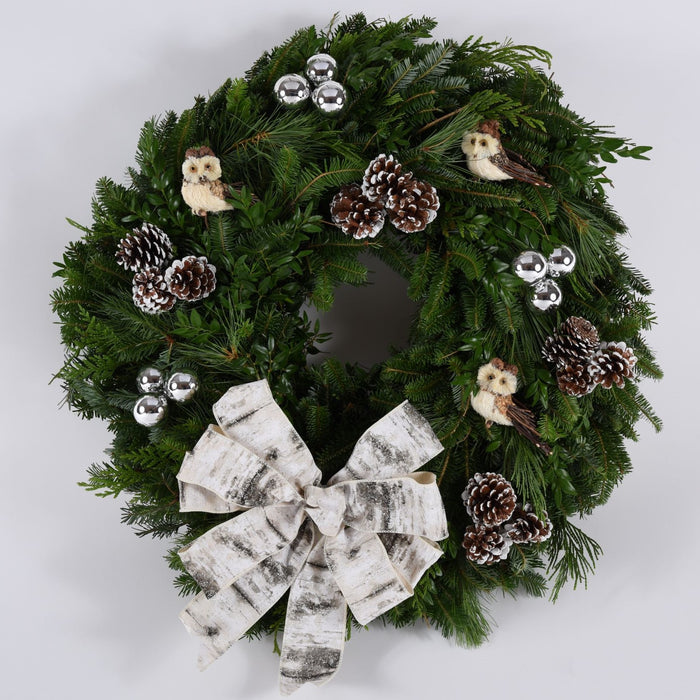 Barn Owl Floral Picks | Holiday Wreath | Seasonal Decor | Trovati Studio