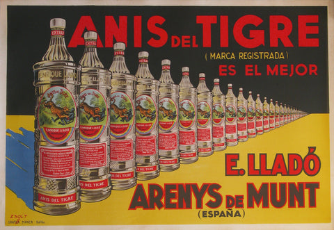Authentic Vintage Poster - Anis del Tigre by Zsolt