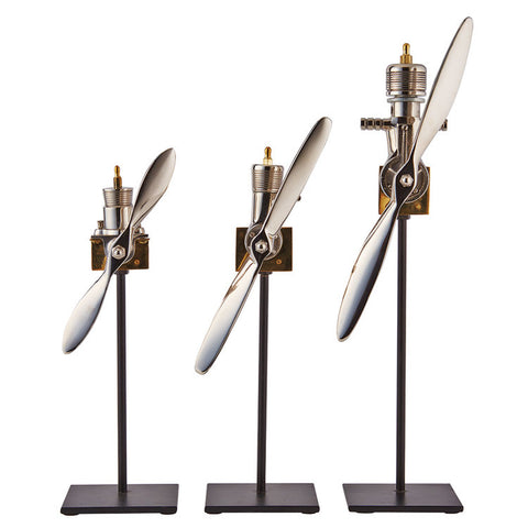 Pendulux Airplane Engine Replica (Set of 3)