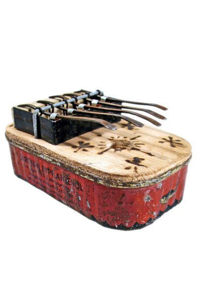 Small Square Recycled Tin Can Kalimba