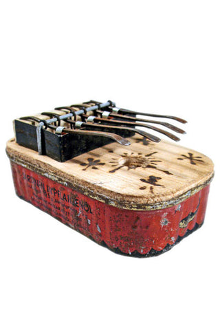 Swahili Fair Trade Small Square Recycled Tin Can Kalimba