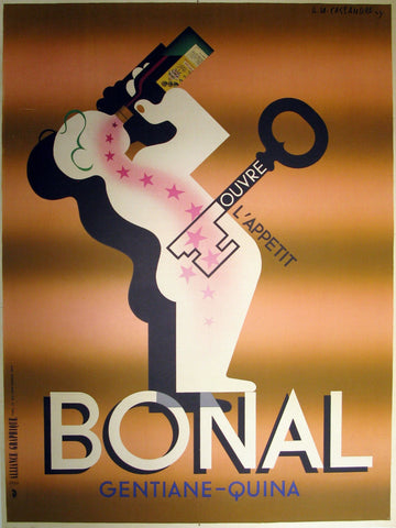 Bonal 1st Printing Authentic Vintage Poster by A.M. Cassandre