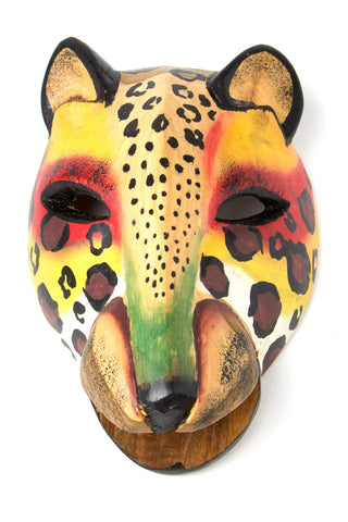 Swahili African Modern Kenyan Jacaranda Wood Cheetah Mask