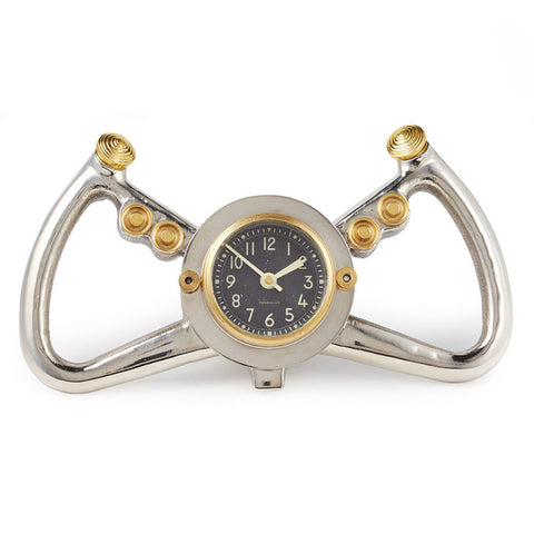 Pendulux Cockpit Table Clock Aluminum