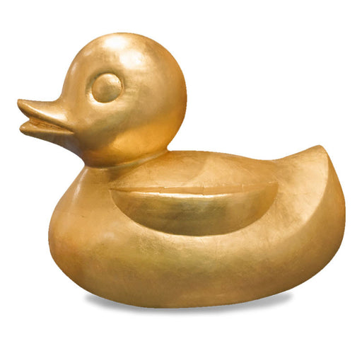Gold Leaf Design Gilded Resin Duck - Trovati