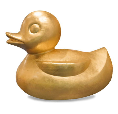 Gold Leaf Design Gilded Resin Duck