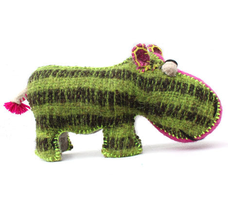Eleven Design Studio Natural Wool Hippo Twoolies