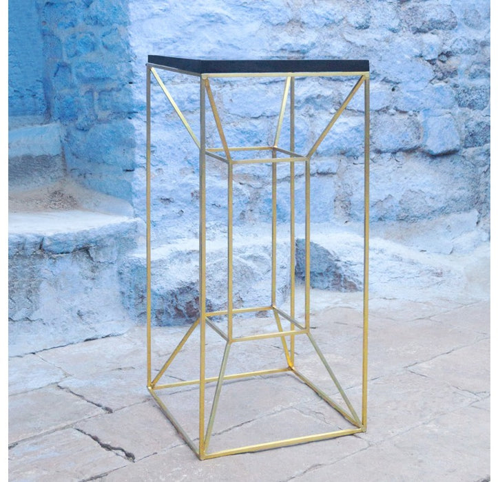 Gold Leaf Design Group Floating Pedestal w/ Granite Top - Trovati