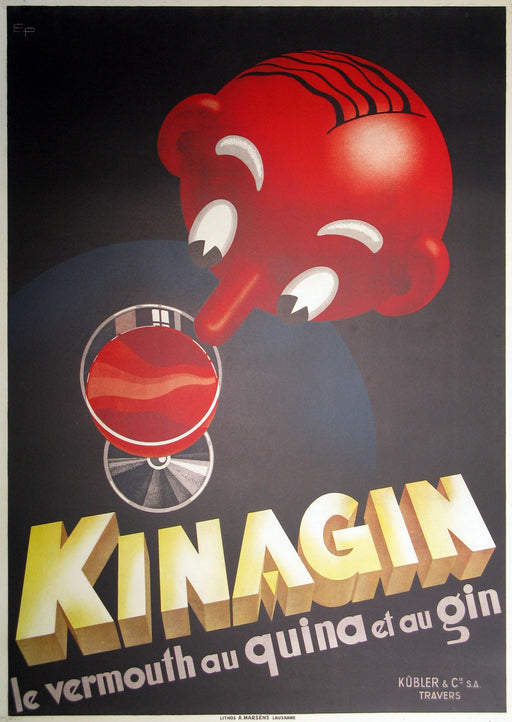 Kinagin Authentic Vintage Poster by E. Patke