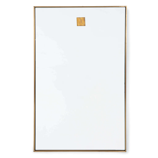 Hanging Rectangle Mirror (Natural Brass) | Regina Andrew | Trovati Studio