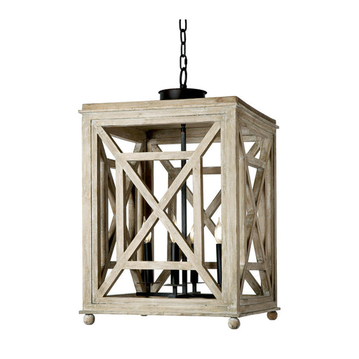 Wood Lattice Lantern | Regina Andrew | Trovati Studio