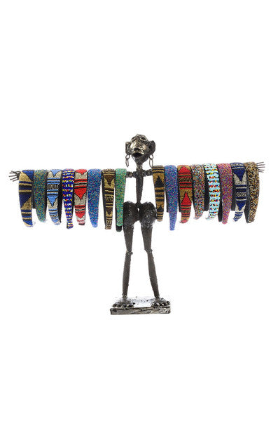 Swahili Kenyan Recycled Metal 'Mama' Jewelry Displays  - 2