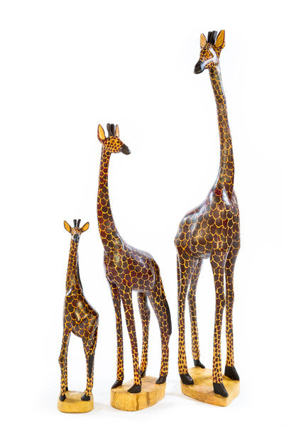 Swahili Fair Trade Kenyan Wooden Giraffes