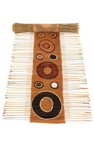 Swahili African Modern Circle Print Twig Table Runner