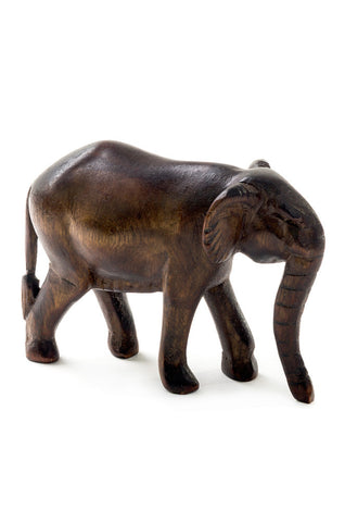 Swahili Kenyan Jacaranda Wooden Elephant Sculpture