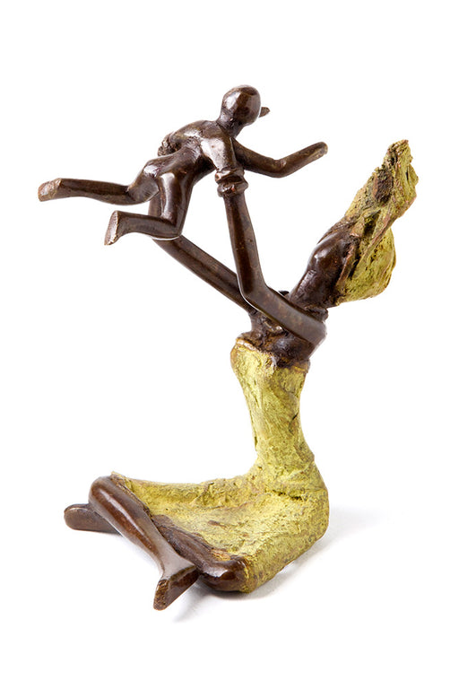 Playtime Mother and Child Bronze Sculpture | African | Trovati Studio