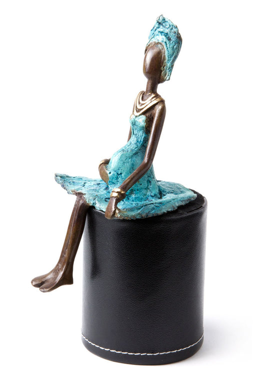 Expectant Mother Bronze Sculpture | African | Trovati Studio