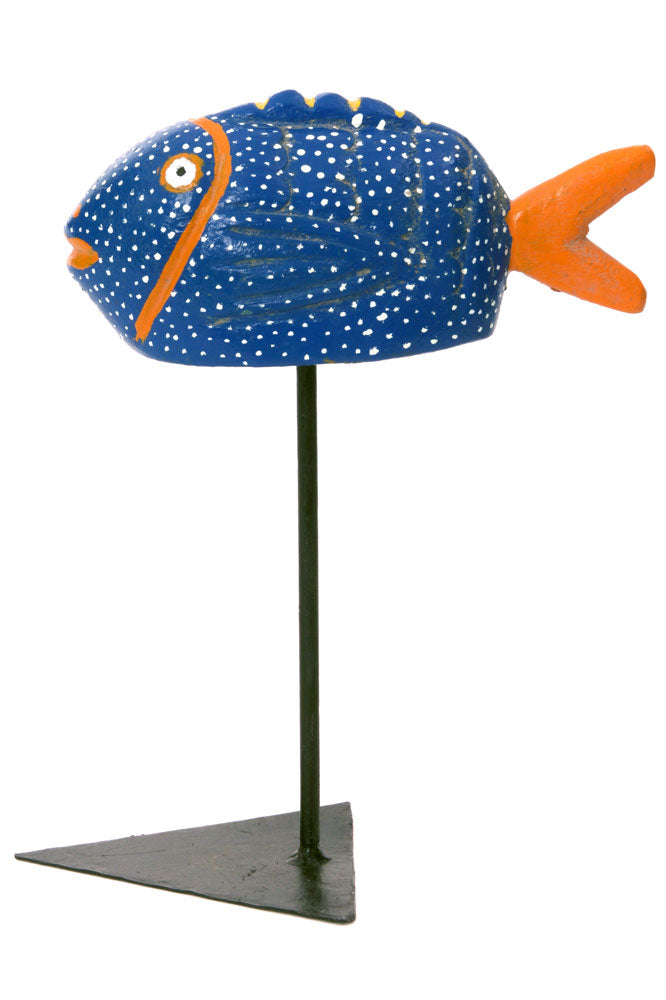 Swahili Small Blue Bozo Fish Mask - Trovati