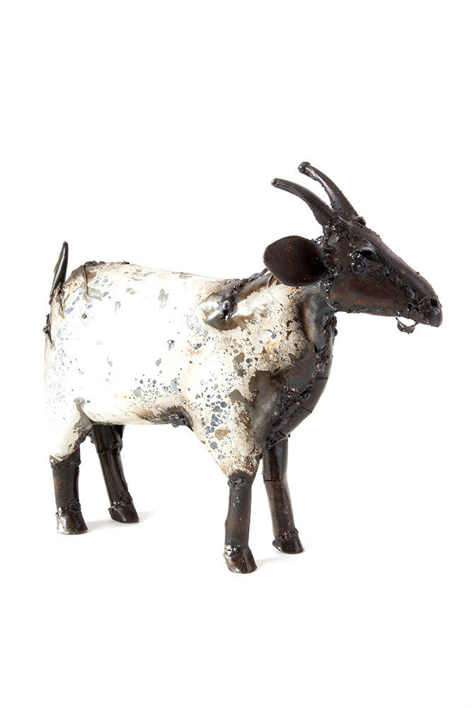 Swahili Recycled Metal African Farm Goat - Trovati