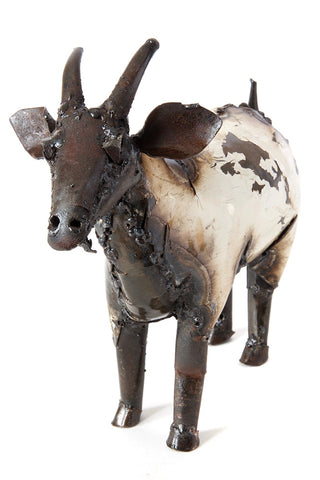 Swahili Large Recycled Metal African Farm Goat