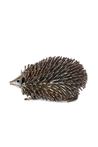 Swahili African Modern Recycled Metal Hedgehog Sculptures