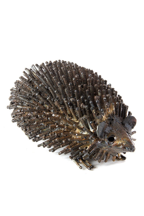 Swahili Recycled Metal Hedgehog Sculptures - Trovati
