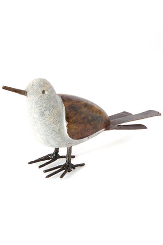 Swahili Metal and Stoneground Scraper Bird Sculpture