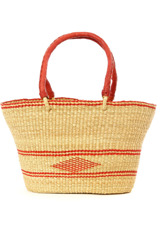 Red Diamond Bolga Basket Shopper | African | Trovati