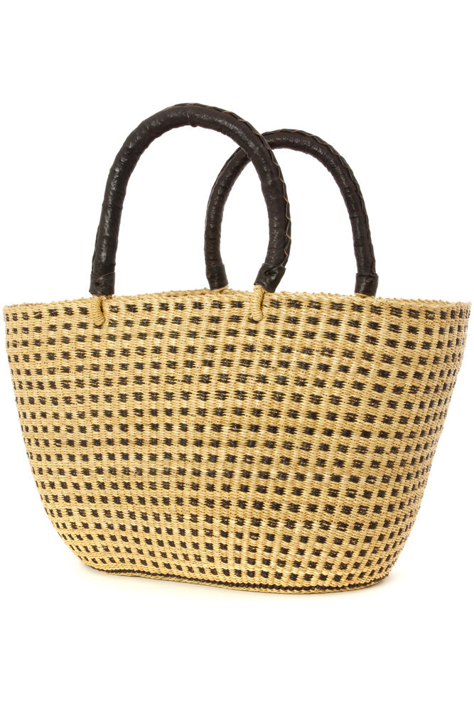 Checkerboard Bolga Basket Shopper | African | Trovati