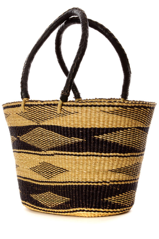 Black Diamond Bolga Basket Shopper | African | Trovati