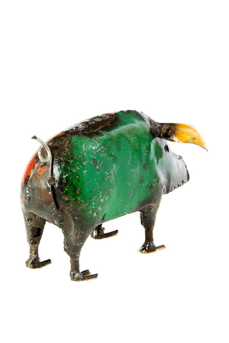 Swahili African Modern Recycled Oil Drum Pig Sculpture - Trovati