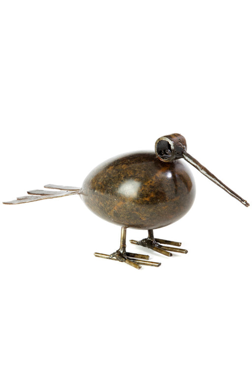 Swahili African Modern Metal and Stone Plump Bird Sculpture - Trovati