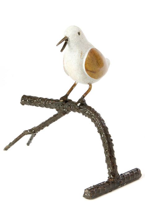 Swahili African Modern Songbird on Branch - Single - Trovati
