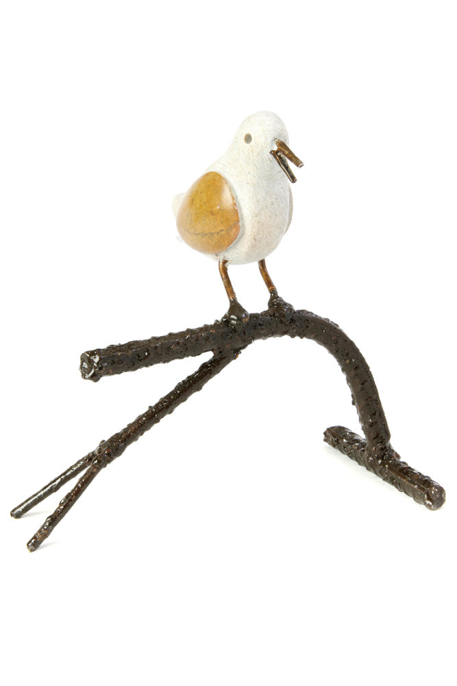 Swahili African Modern Songbird on Branch - Single