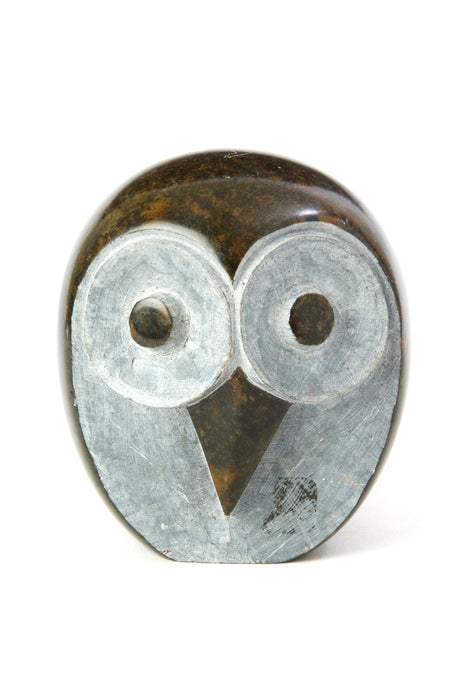 Swahili African Modern Shona Stone Owl Sculpture - Small - Trovati