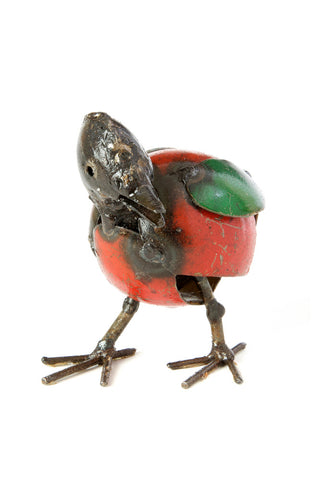 Swahili African Modern Colorful Recycled Oil Drum Chick Sculpture