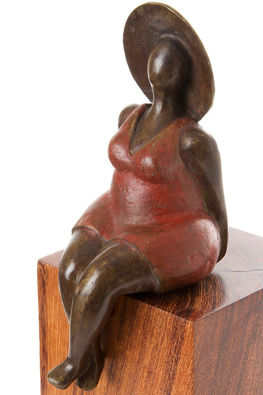 Seaside Diva Bronze Lady Sculpture | African | Trovati Studio