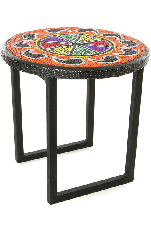 Beaded African Plant Stand | Trovati Studio | Paisley
