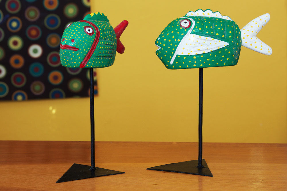 Swahili Green Bozo Fish Mask - Trovati